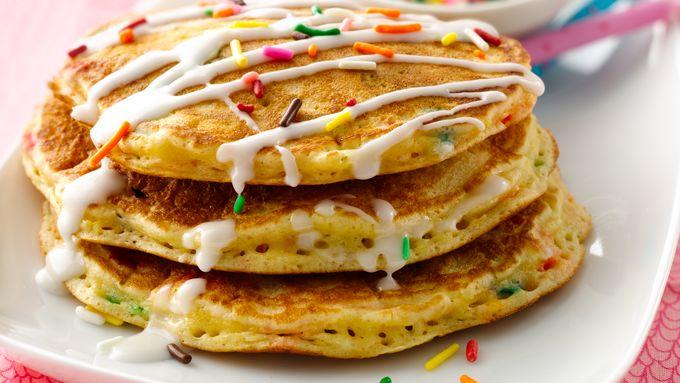Cake Batter Pancakes