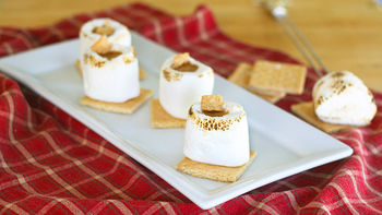 Roasted Marshmallow S'mores Shots