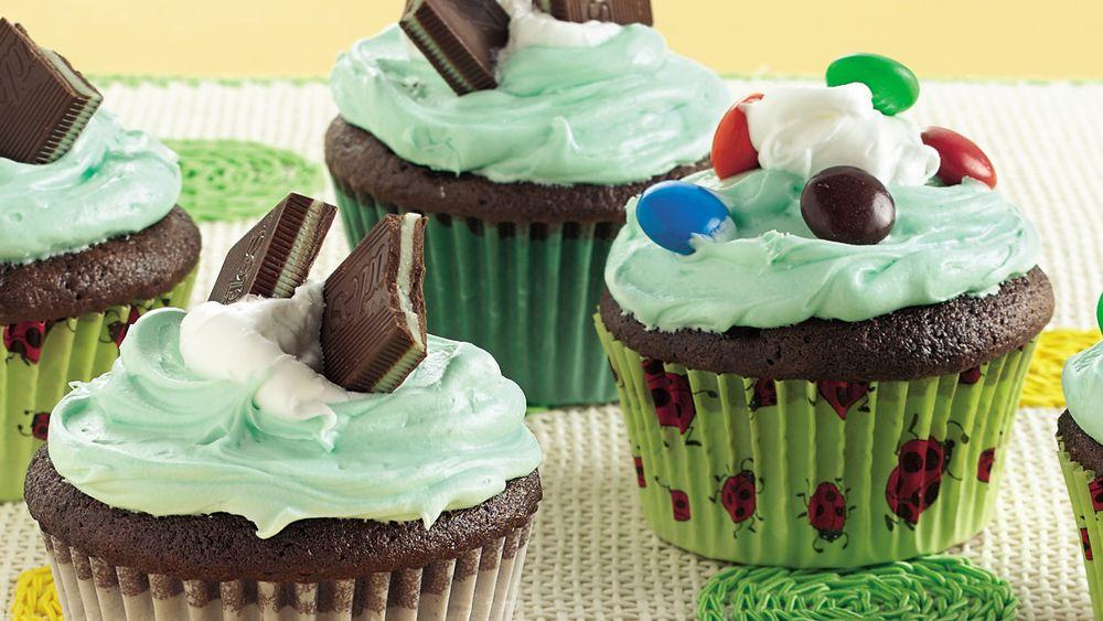 Grasshopper Cupcakes