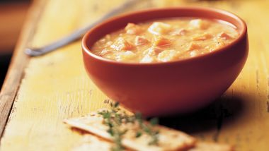 Slow-Cooker Split Pea and Yam Soup
