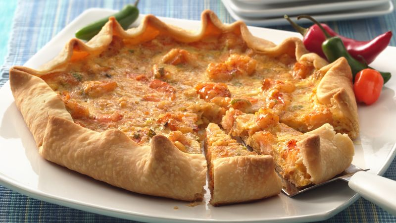 Creole Shrimp and Cheese Tart