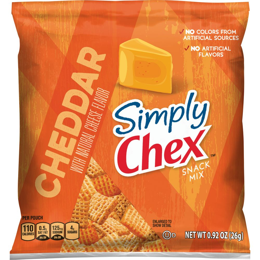 Bulk Buy Simply Chex™ Cheddar 0.92oz 60ct   General Mills Convenience and Foodservice