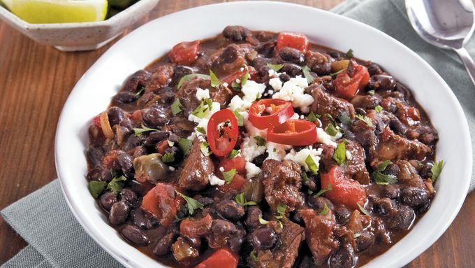 Slow-Cooker Sirloin and Black Bean Chil
