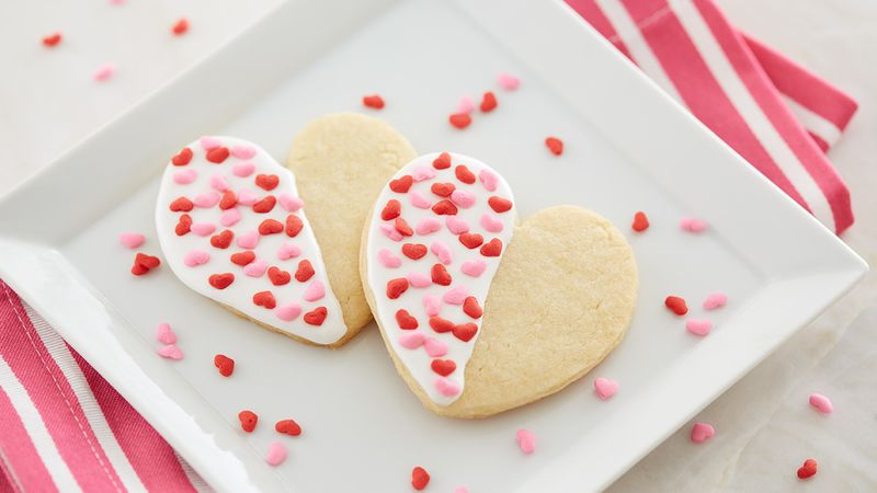 Dipped Heart Sugar Cookies