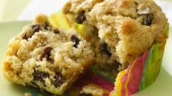 Muffins de Plátano y Pasitas