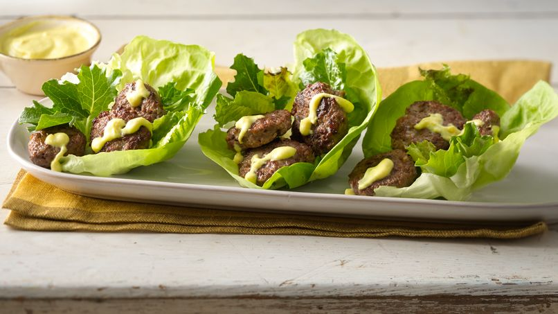 Lettuce Wrapped Bison Sliders