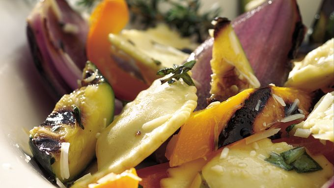 Grilled Vegetables and Ravioli