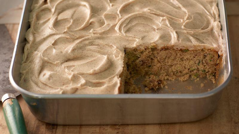 Zucchini Cake with Cinnamon Cream Cheese Frosting recipe ...