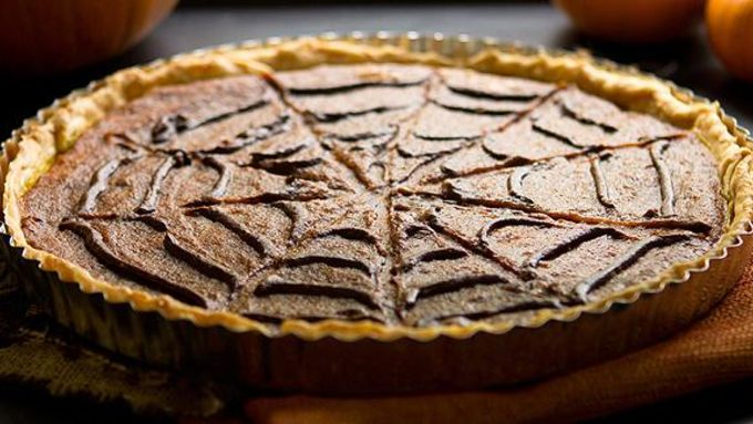 Spiderweb Pumpkin Tart
