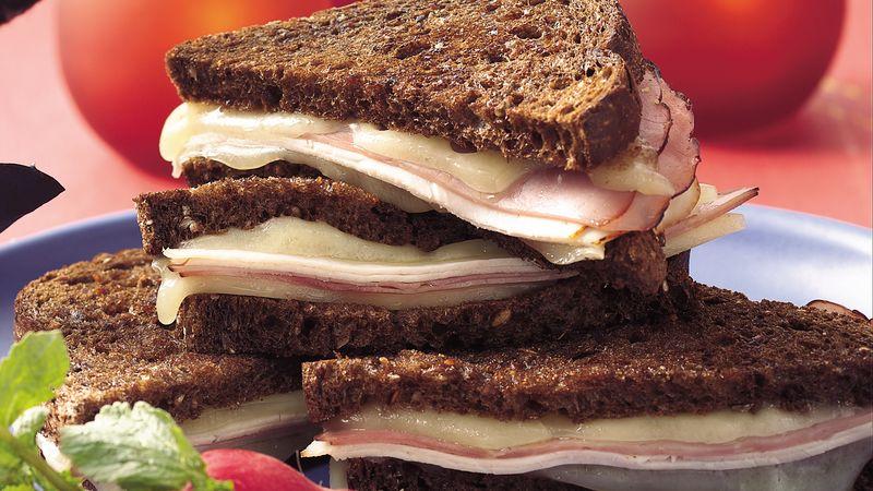 Grilled Cordon Bleu Sandwiches