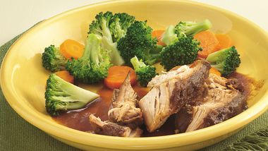 Slow-Cooker Turkey Breast with Cranberry-Onion Gravy