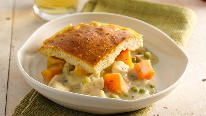 Chicken and Butternut Squash Pot Pie