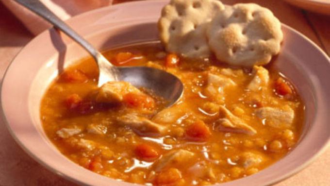 Lemony Chicken-Lentil Soup