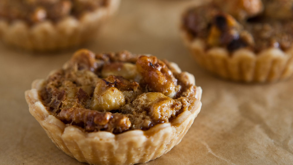 Whiskey Walnut Mini Pies