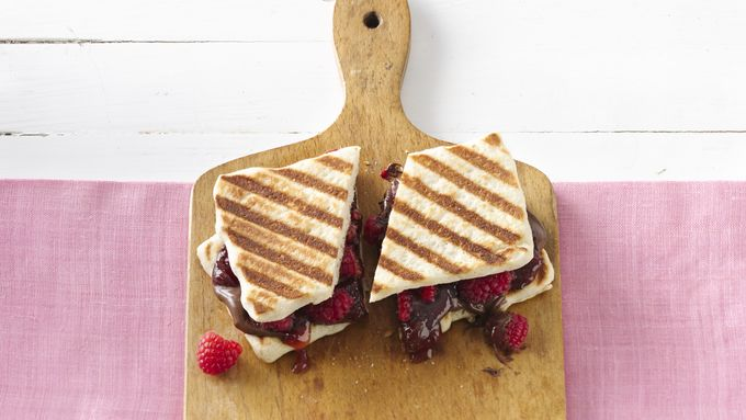 Brie And Raspberry Panini With Hazelnut Spread Recipe — Dishmaps