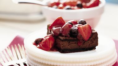 Chocolate-Berry Cheesecake