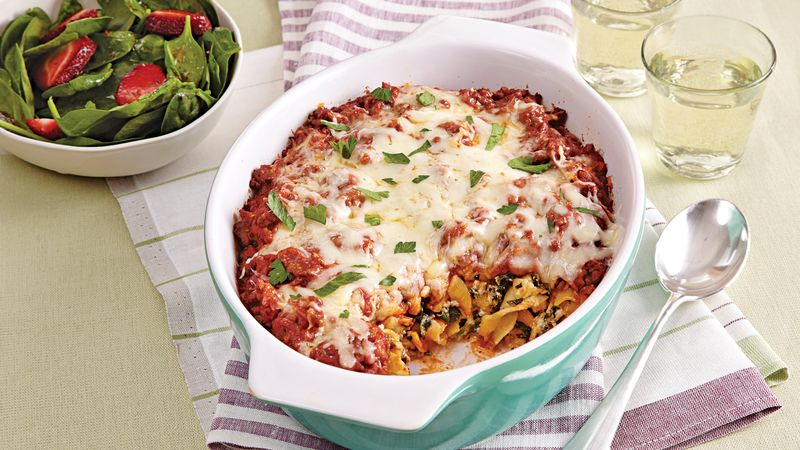 Noodle and Spinach Casserole