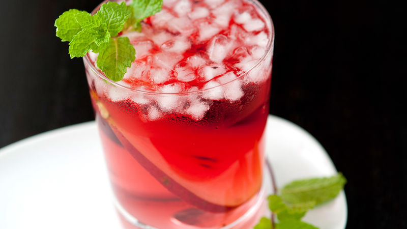 Pear and Cranberry Orange Cocktail