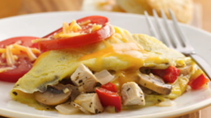 Turkey-Veggie Omelet
