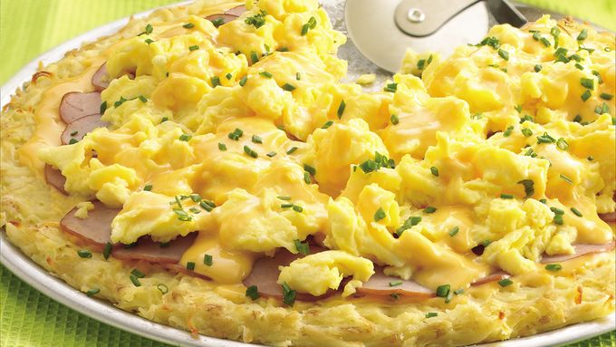 Canadian Bacon Pizza with Cheddar-Mustard  Sauce