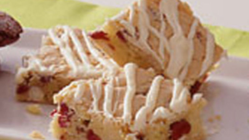 White Chocolate-Cranberry Bars