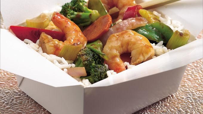 Sesame-Ginger Shrimp and Vegetable Stir-Fry