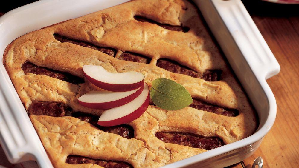 Apple Sausage Oven Pancake