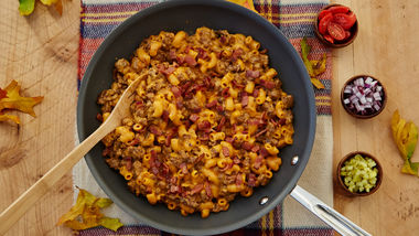 Bacon-Venison Cheeseburger Macaroni