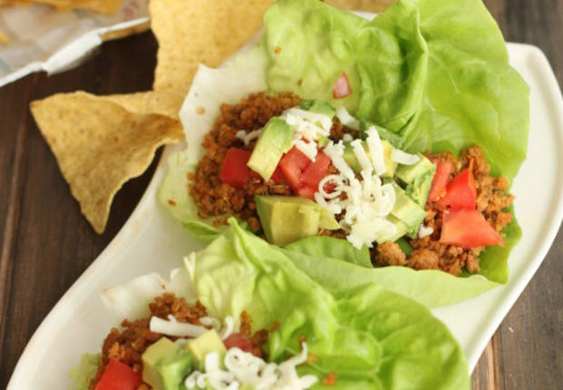 ... turkey and quinoa taco wraps are a healthy twist on tacos with double