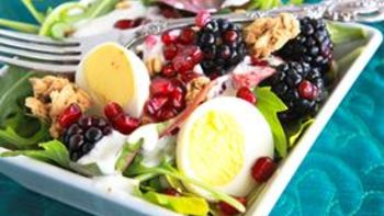 Fruit, Granola and Greens Salad