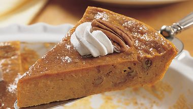 Impossibly Easy Pumpkin-Pecan Pie