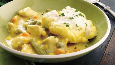 Mustardy Chicken and Dumplings