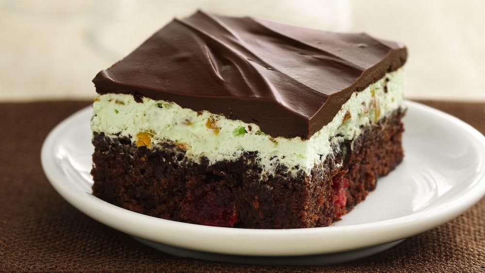 Chocolate-Cherry-Pistachio Brownies