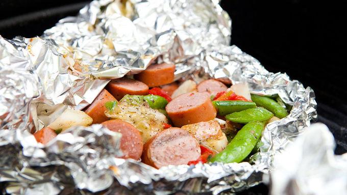 Smoked Turkey Sausage Foil Pack