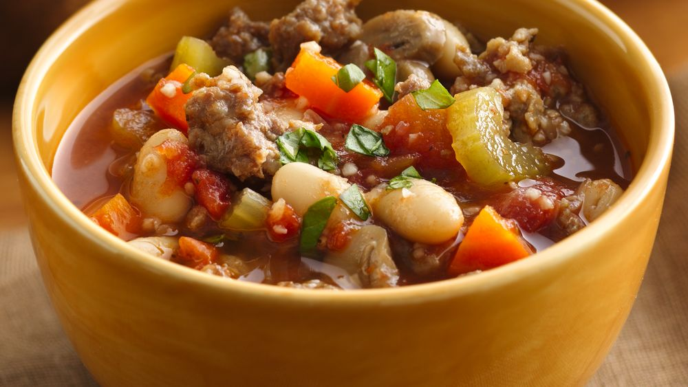 Tuscan Sausage and Bean Stew