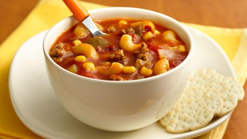 Chili-Mac Soup