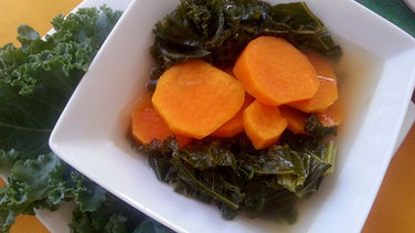 Kale Soup with Sweet Potatoes