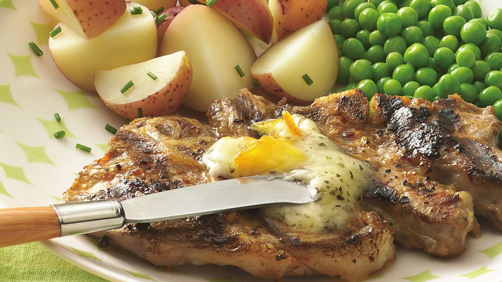 Lamb Chops with Orange Butter