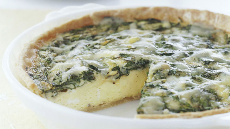Skinny Spinach and Cheese Quiche
