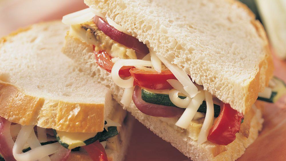 Grilled Garden Vegetable Sandwiches