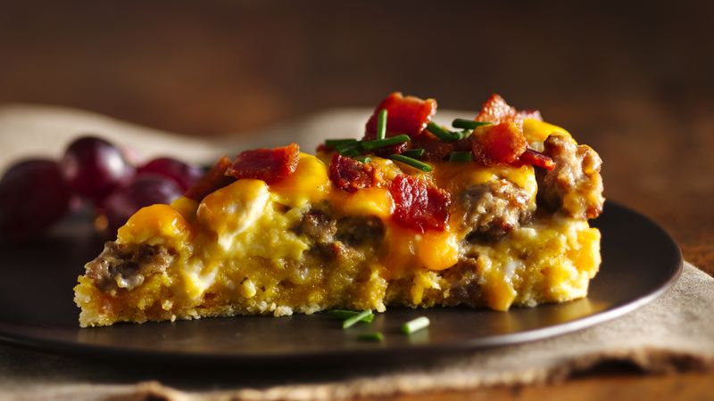 Sausage-Bacon and Cheese Breakfast Torte