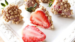 Strawberries Covered in Yoplait® and Cheerios™
