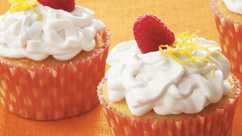 Raspberry-Filled Lemon Cupcakes