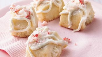 Peppermint Shortbread Bites