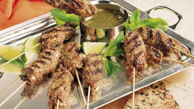 Grilled Ground Lamb on Skewers (Seekh Kabobs)