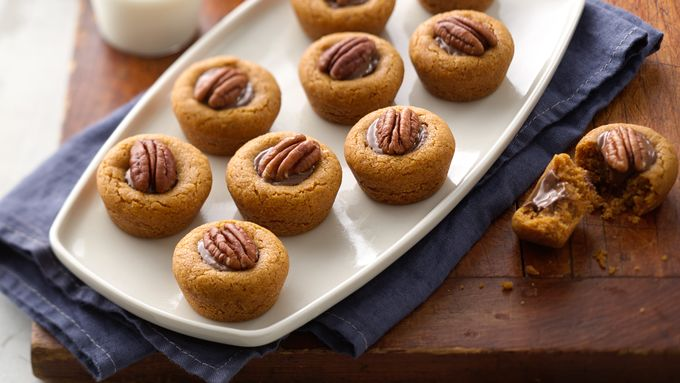 Pumpkin Pecan Peanut Butter Cookie Cups