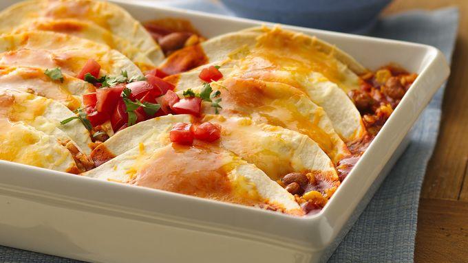 No-Roll Mexican Rice Enchiladas