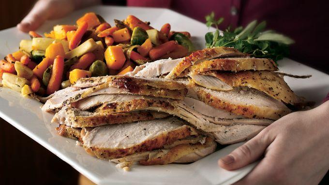 Grilled Honey-Dijon Brined Turkey Breast