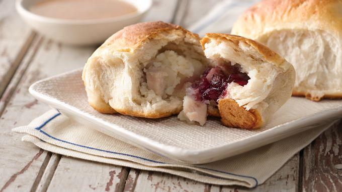 Turkey Dinner-Stuffed Biscuits
