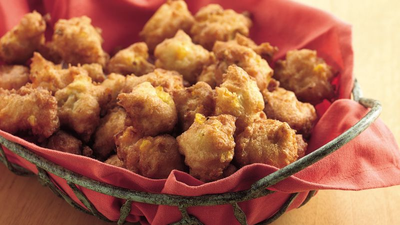 Spicy Corn Fritters recipe from Betty Crocker
